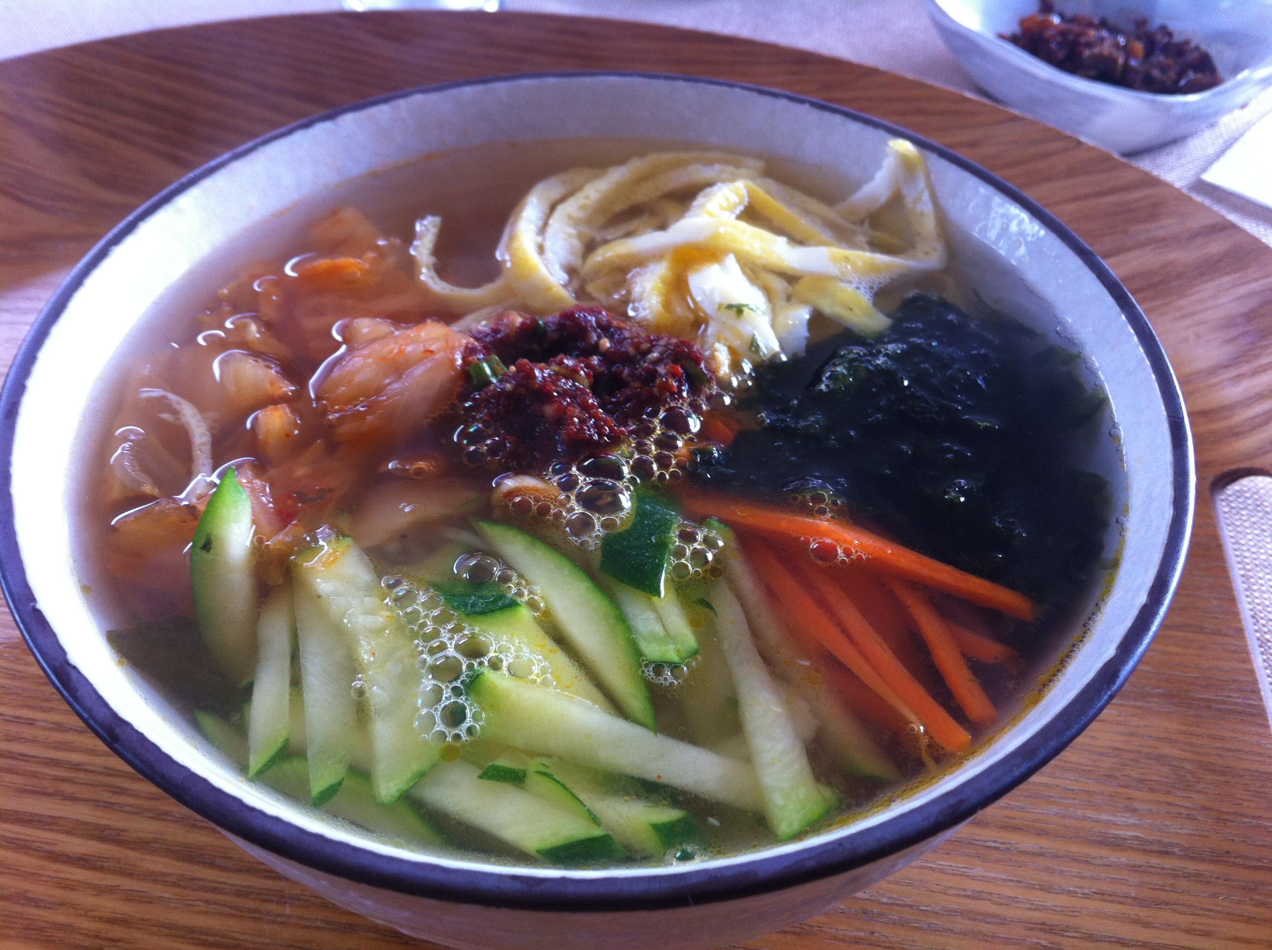 Janchi Guksoo 잔치국수 Banquet Noodle Soup Gangnam Kitchen