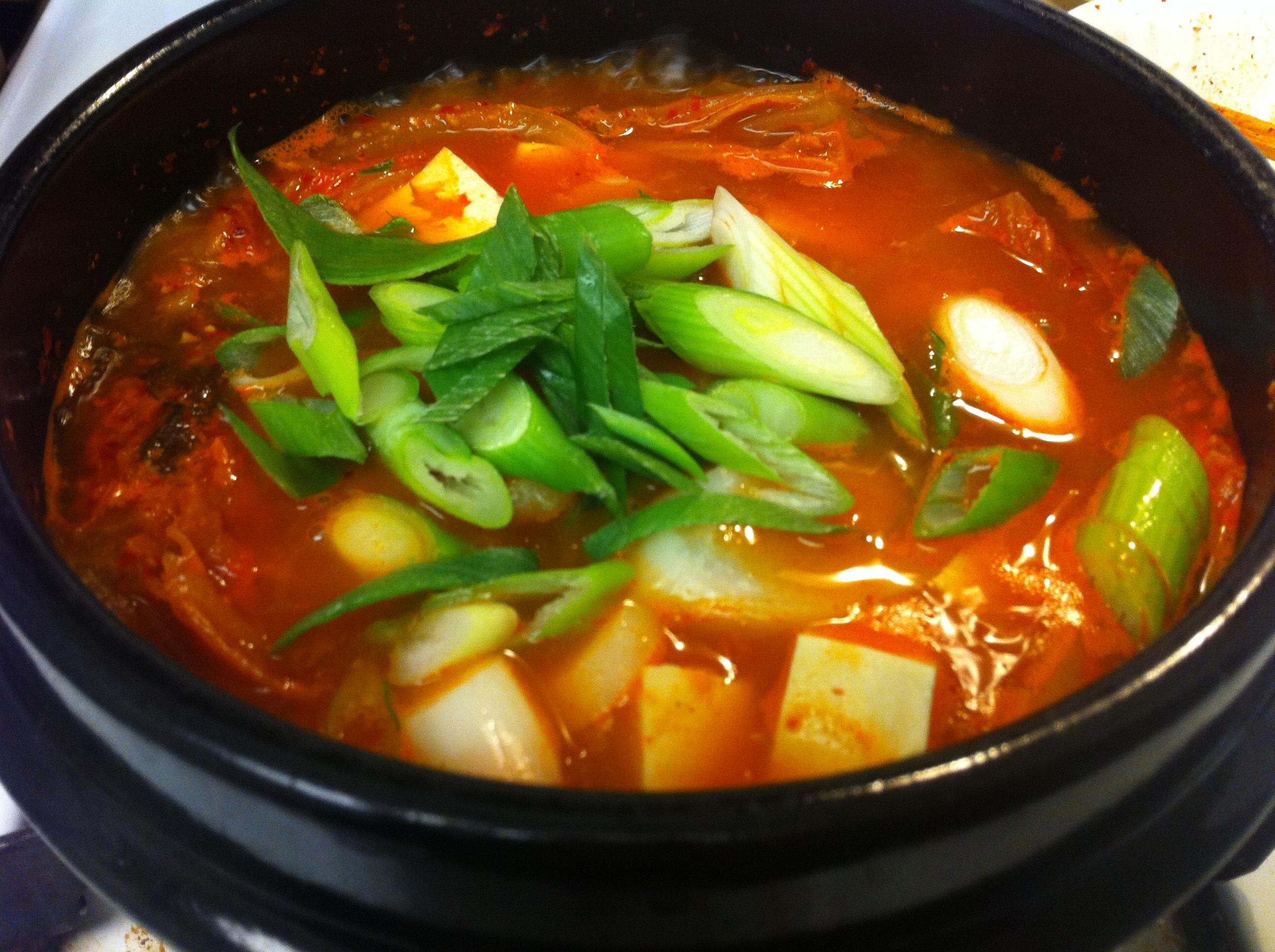 Sagol Kimchi-jjigae (사골 김치찌개): Kimchi Stew with Bone ...