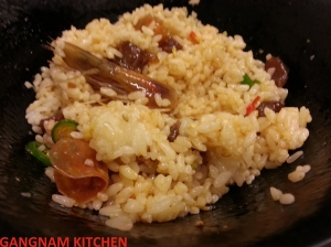 Shrimp marinaded in Soy Sacue mixed with Rice, Detail (새우장 비빔밥)