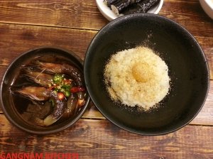 Shrimp marinaded in Soy Sacue with Rice  (새우장 비빔밥)