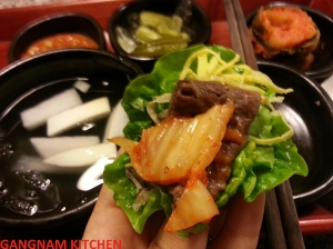 Beef with Lettuce Wrap, Detail (쌈밥)
