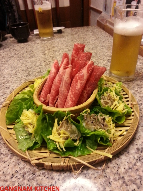 Beef with Lettuce Wrap (쌈밥)